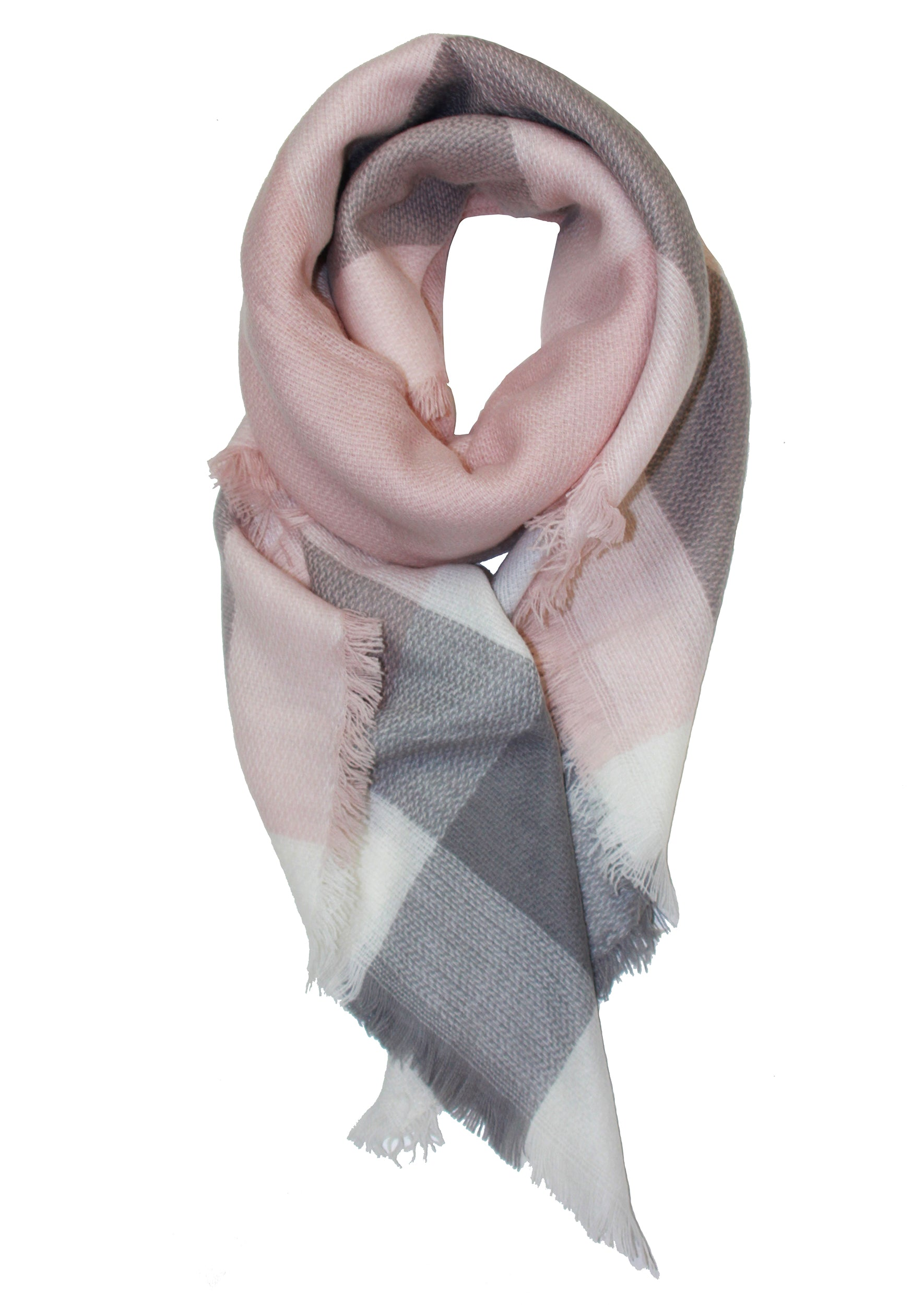 Kate Plaid Scarf - Jules Smith - 14K Gold Plated - Boho Jewelry