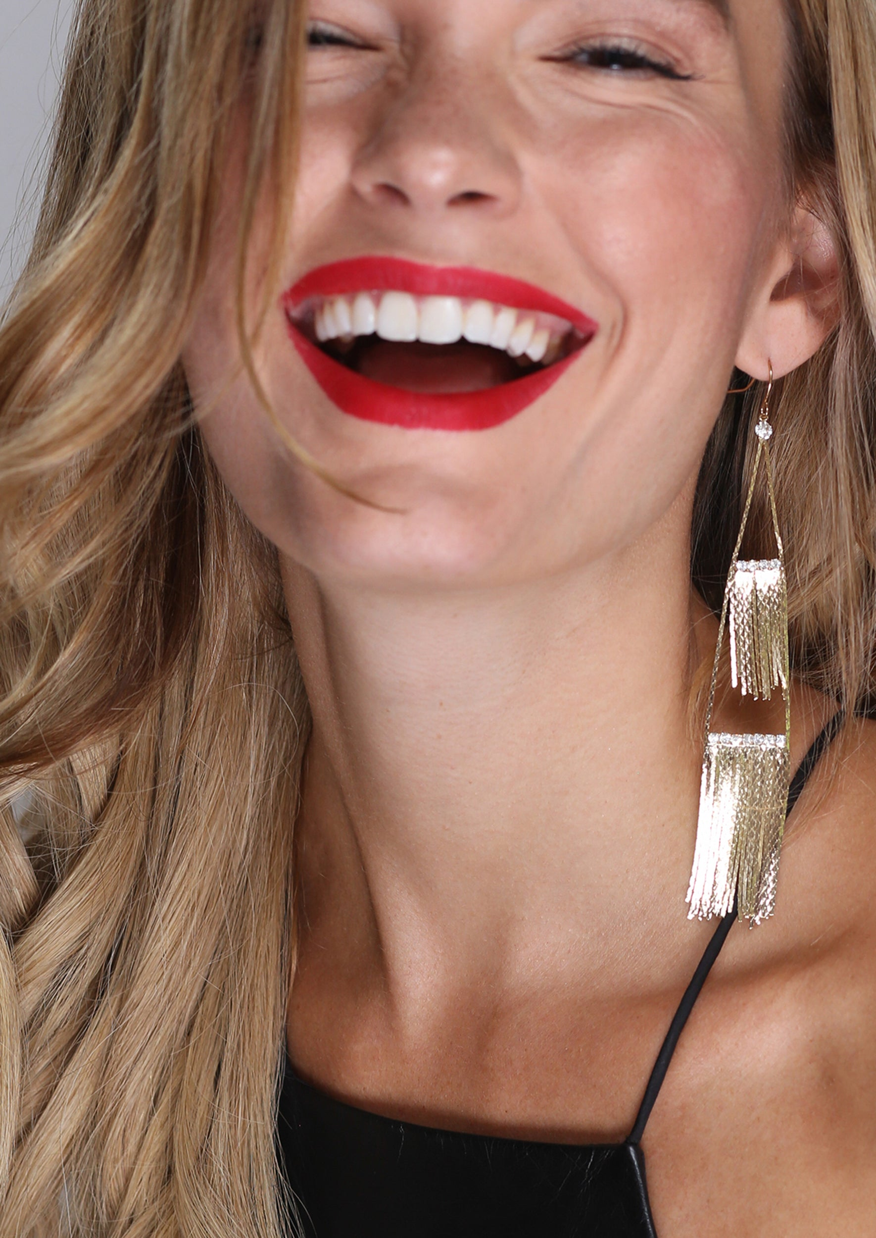 Fringe Bling Drop Earrings