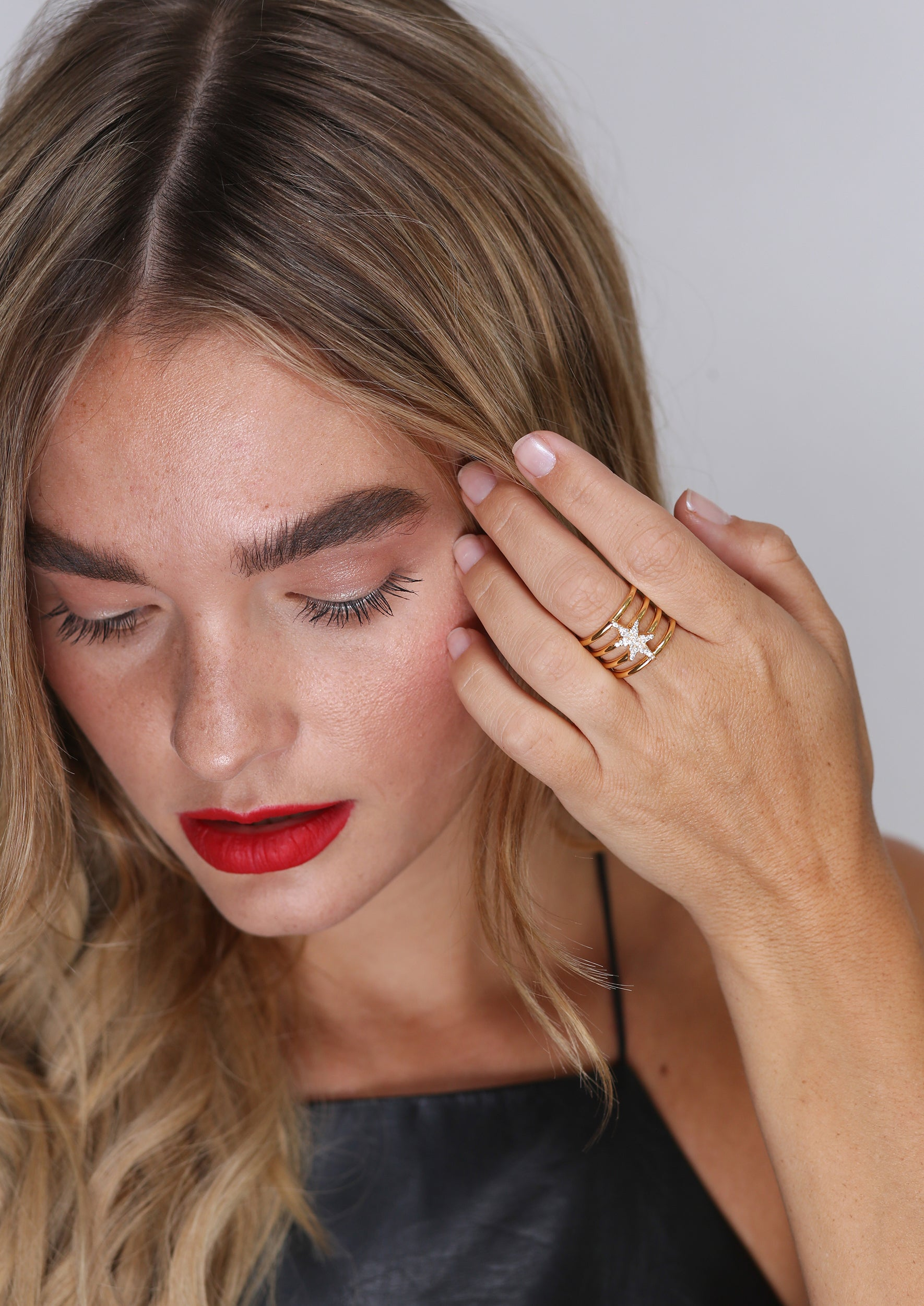 North Star Ring - Jules Smith - 14K Gold Plated - Boho Jewelry
