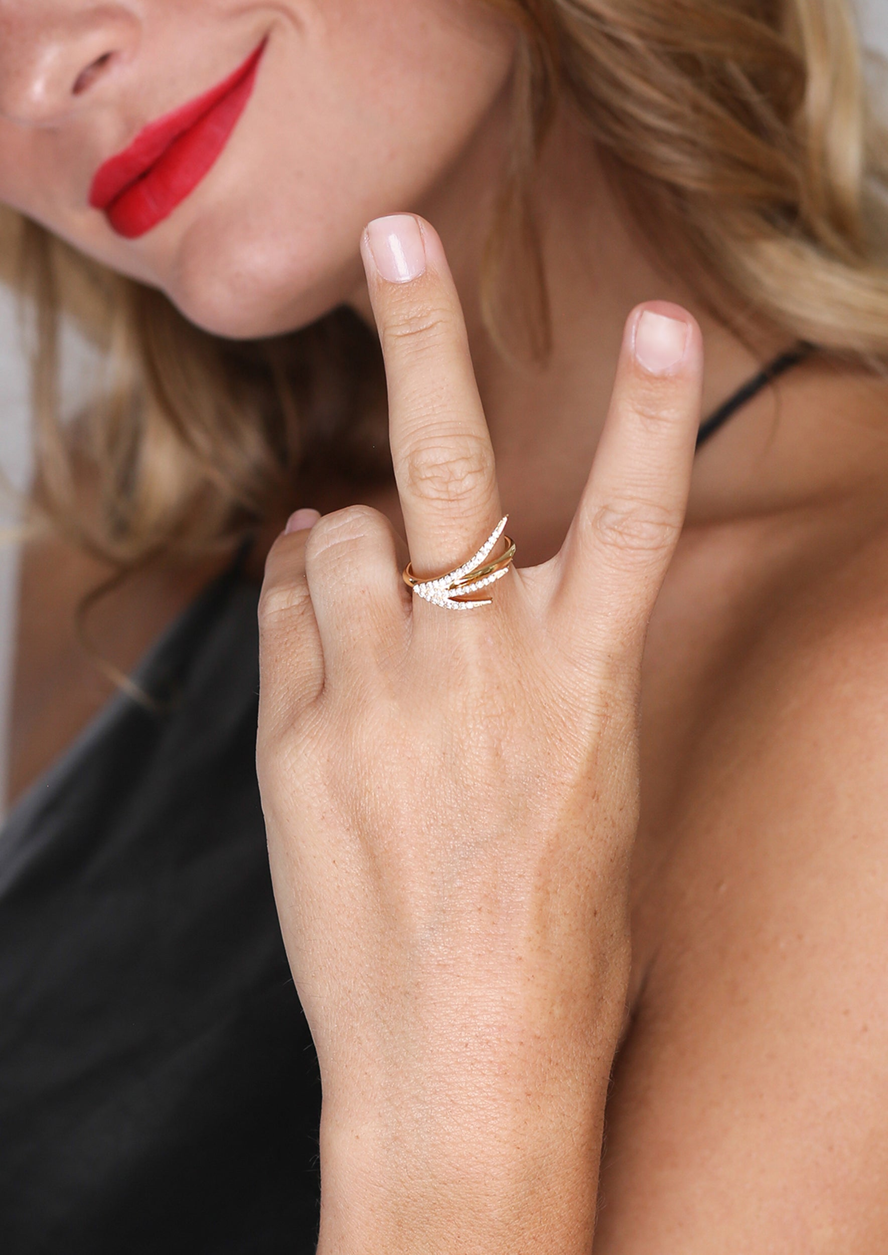 SPARK RING - Jules Smith - 14K Gold Plated - Boho Jewelry