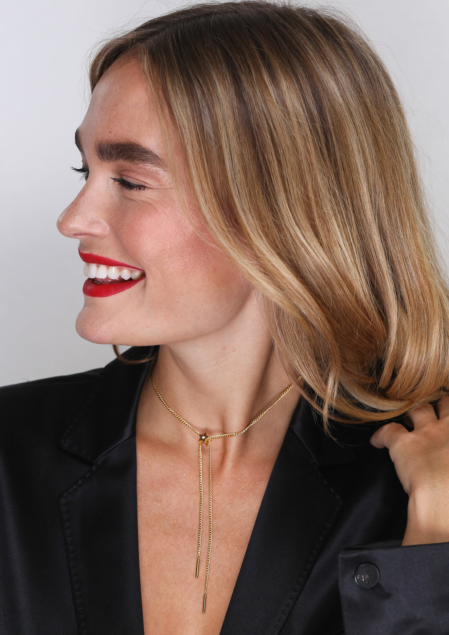 Star Slide Choker - Jules Smith - 14K Gold Plated - Boho Jewelry