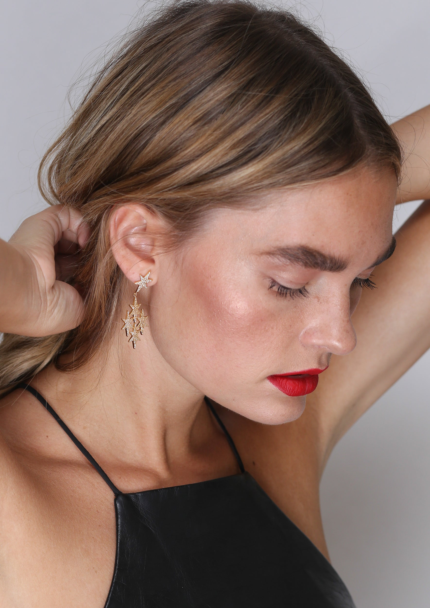 North Star Drop Earrings - Jules Smith - 14K Gold Plated - Boho Jewelry