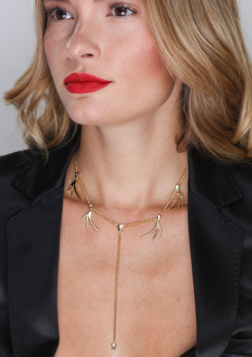 SPARK LARIAT NECKLACE - Jules Smith - 14K Gold Plated - Boho Jewelry