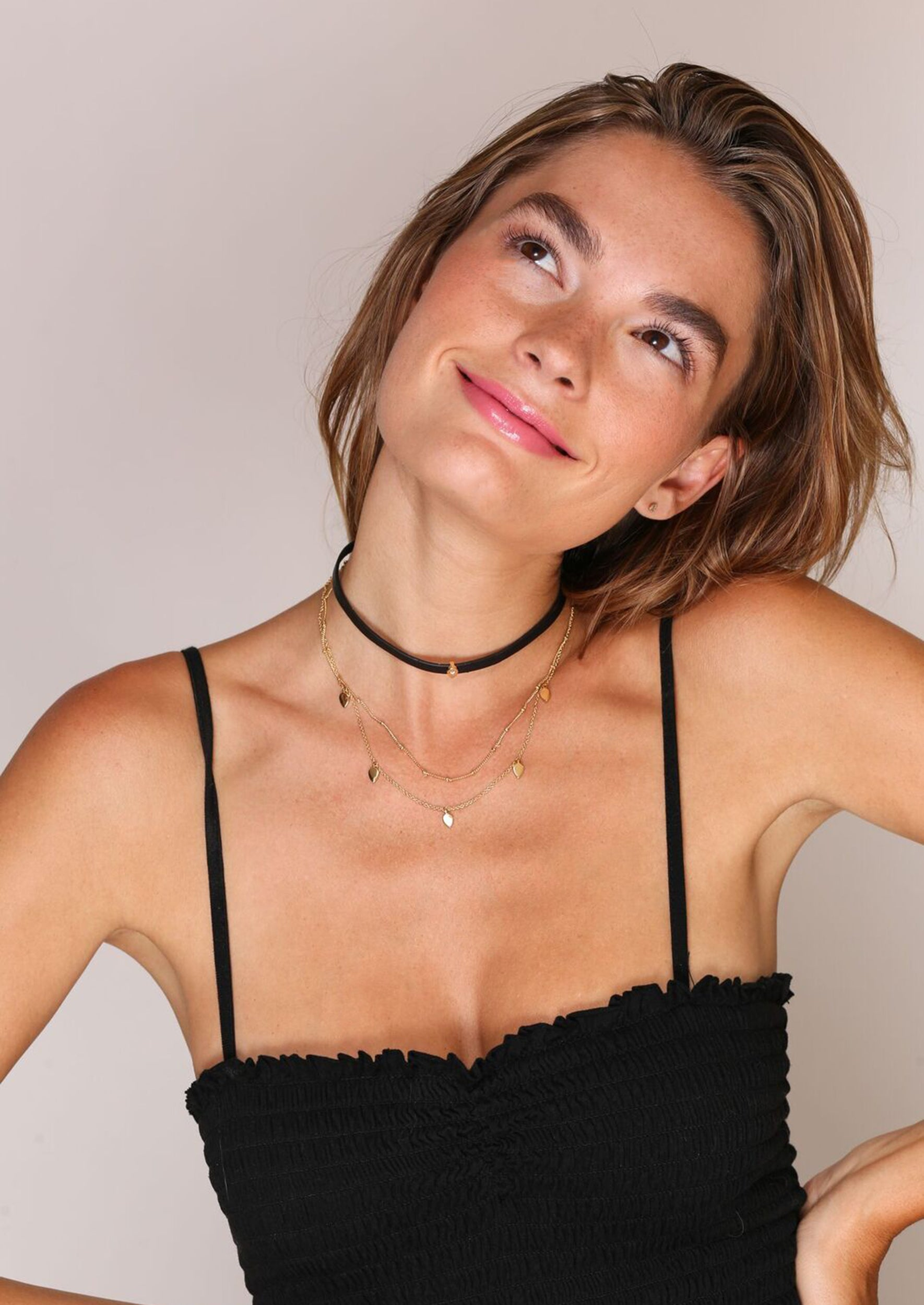 Jules Smith Layered Leather and Chain Choker