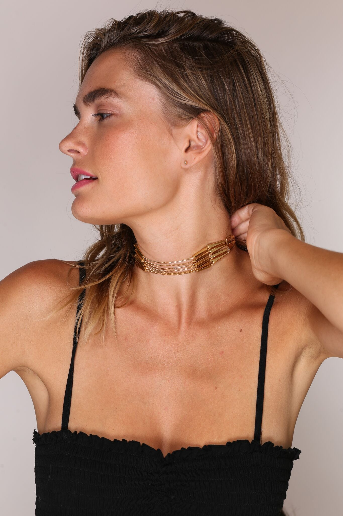 Jules Smith 14K Gold Plated Chain Choker