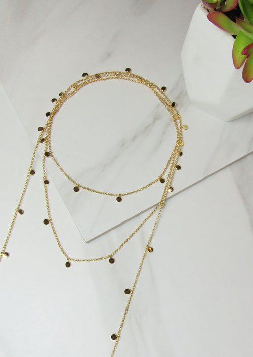 Jules Smith Gold Wraparound Chain Necklace