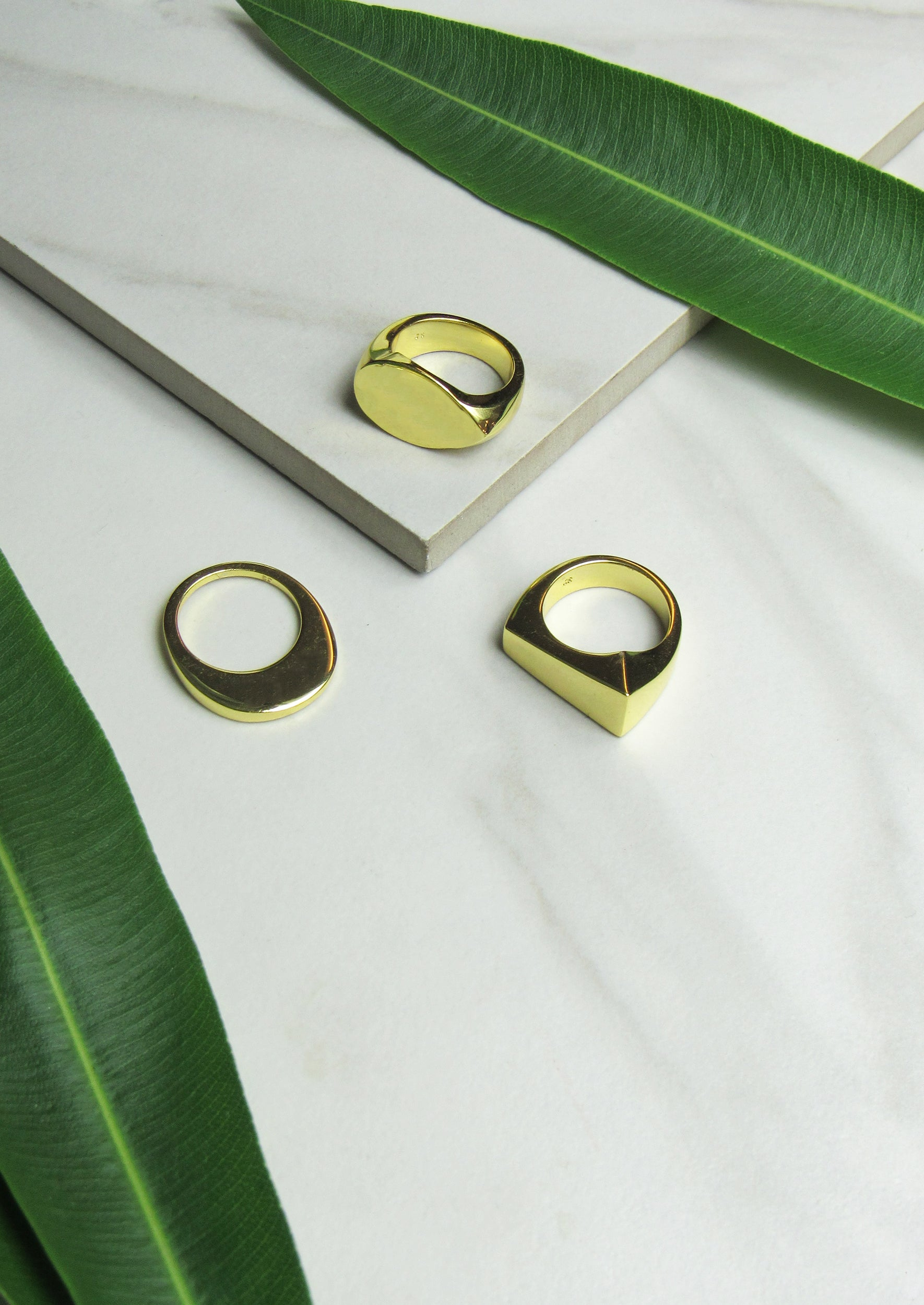 Mykonos 14K Shiny Gold Plated Rings - Jules Smith - 14K Gold Plated - Boho Jewelry
