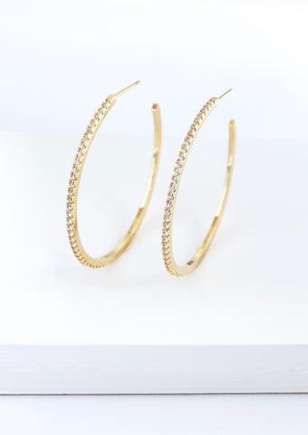 SPARKLE TWIST EARRINGS