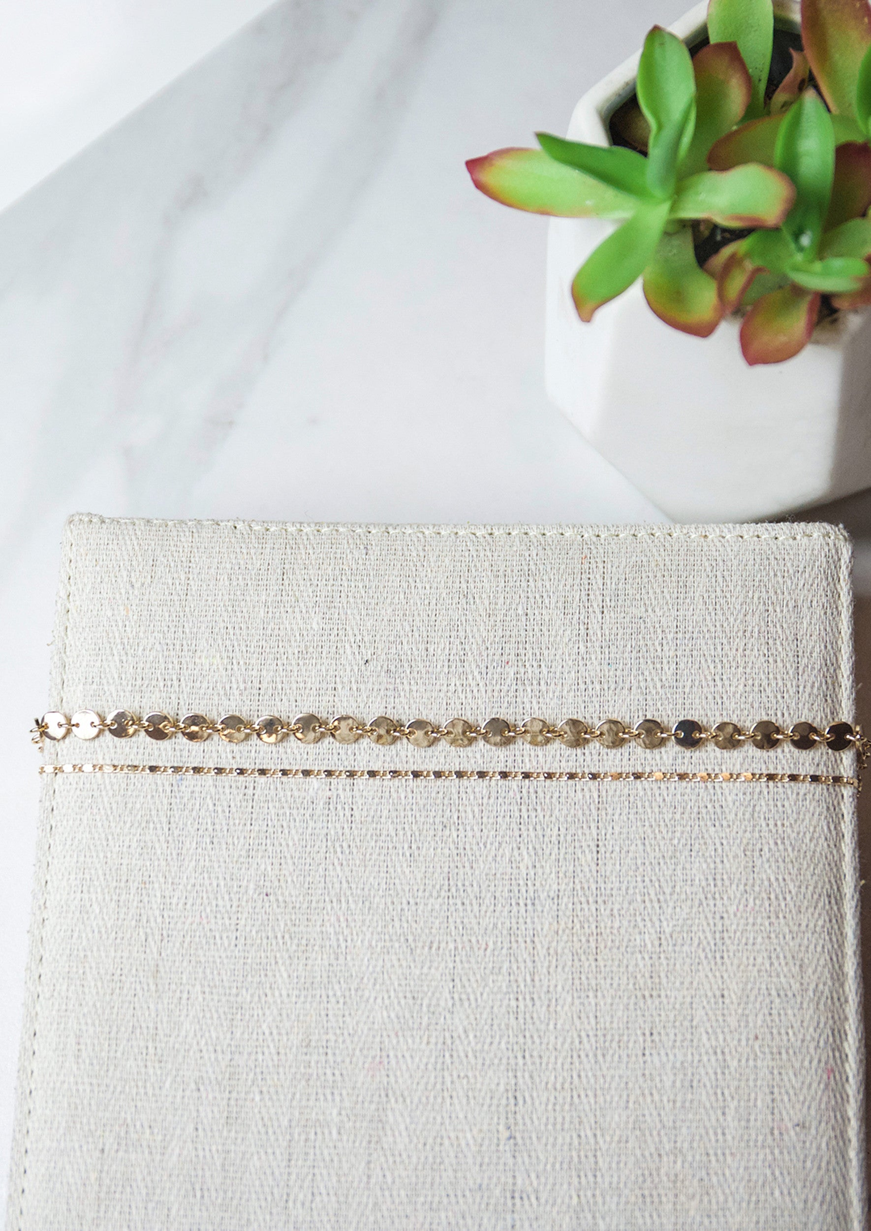 Jules Smith 14K Gold Plated Double Layer Chain Choker Necklace