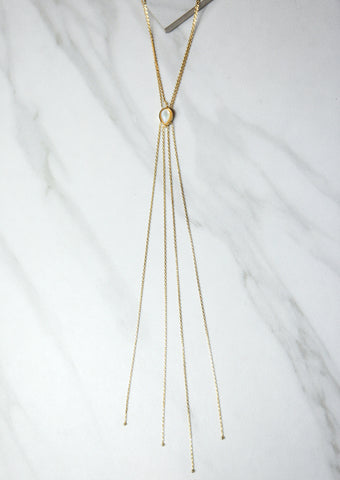 PAVE POINT NECKLACE