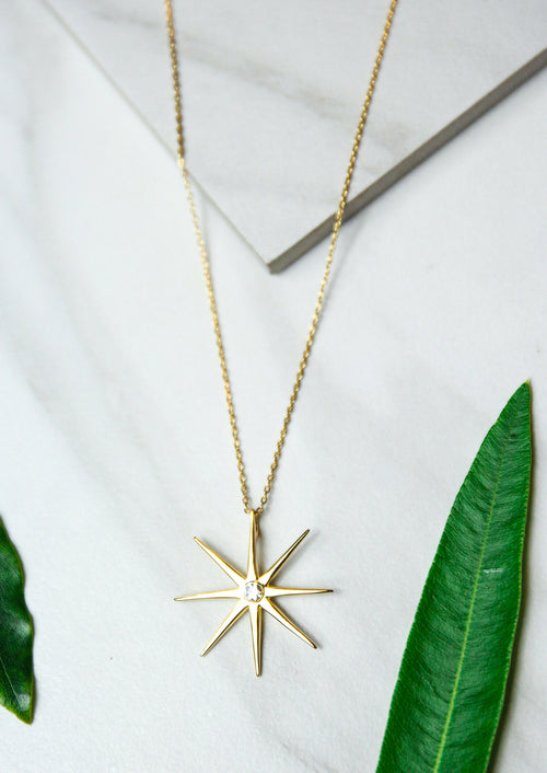 Jules Smith Elegant 14K Gold Plated Star Pendant Necklace