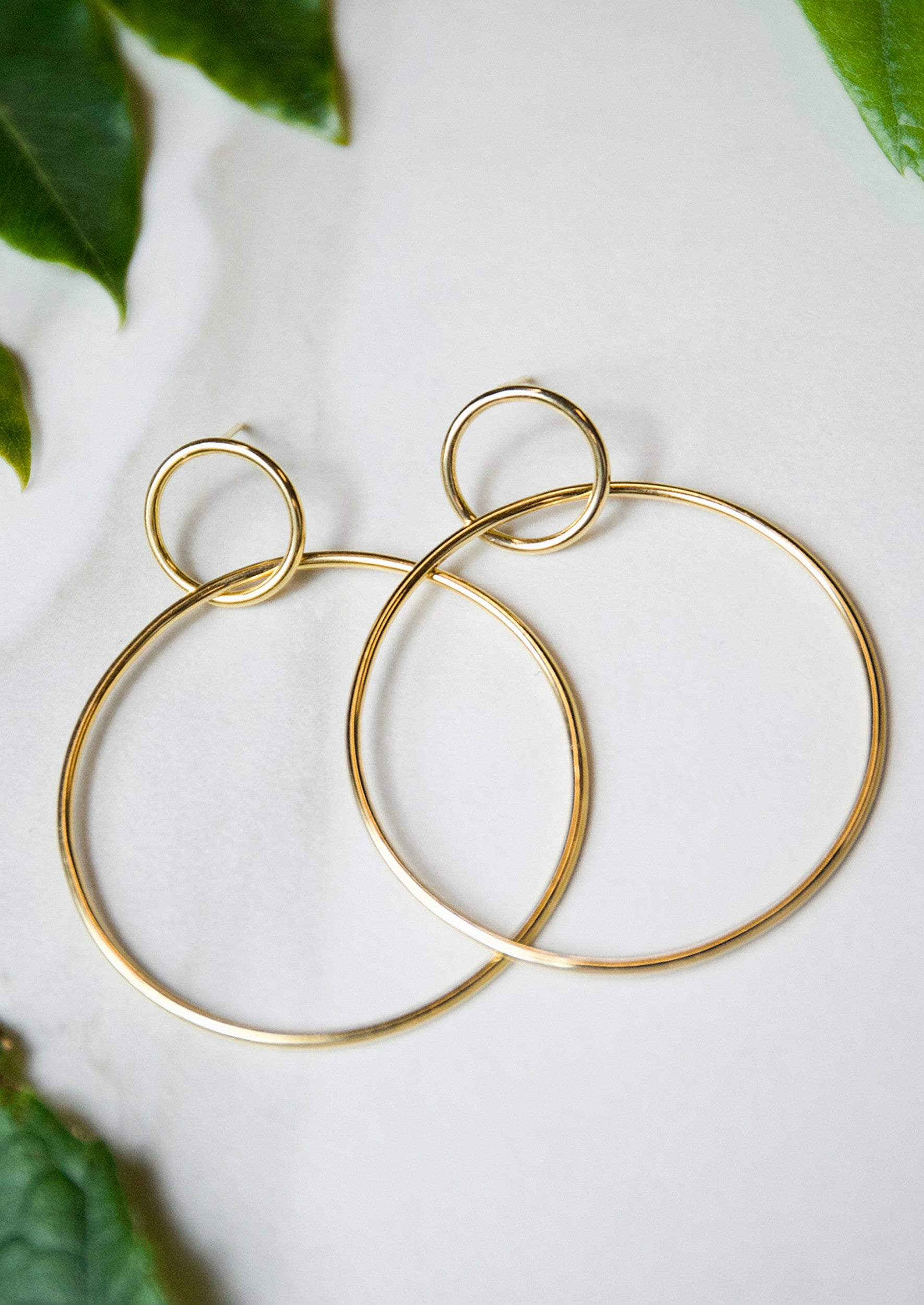 plated hoop double earrings jules smith photeditbatch products circle