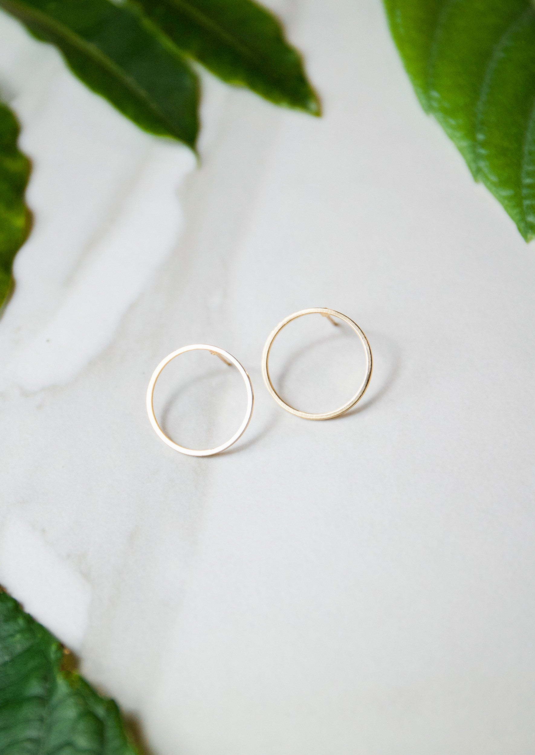 Jules Smith 14K Gold Plated Circle Stud Earrings