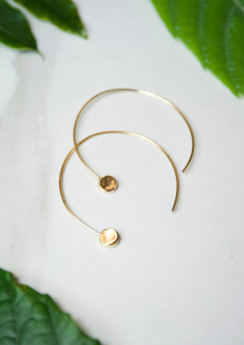 Jules Smith 14K Gold Plated Hoops Earrings