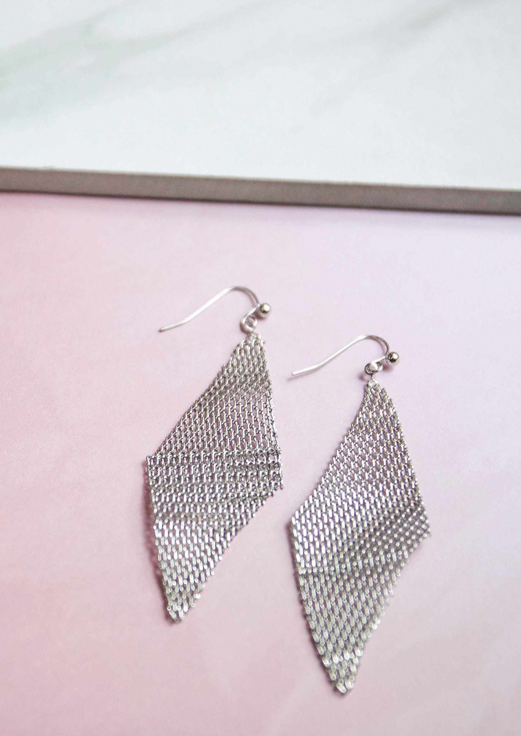 Jules Smith 14K Plated Mesh Drop Earrings