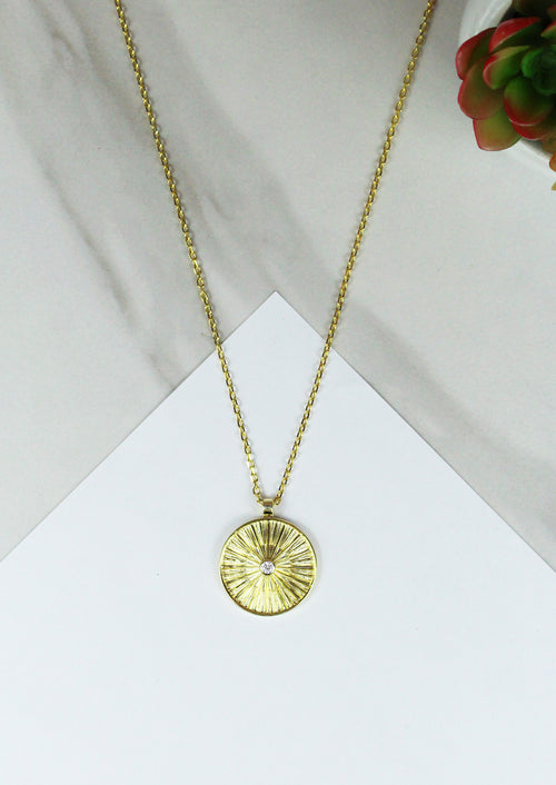 Sol Coin Pendant Necklace