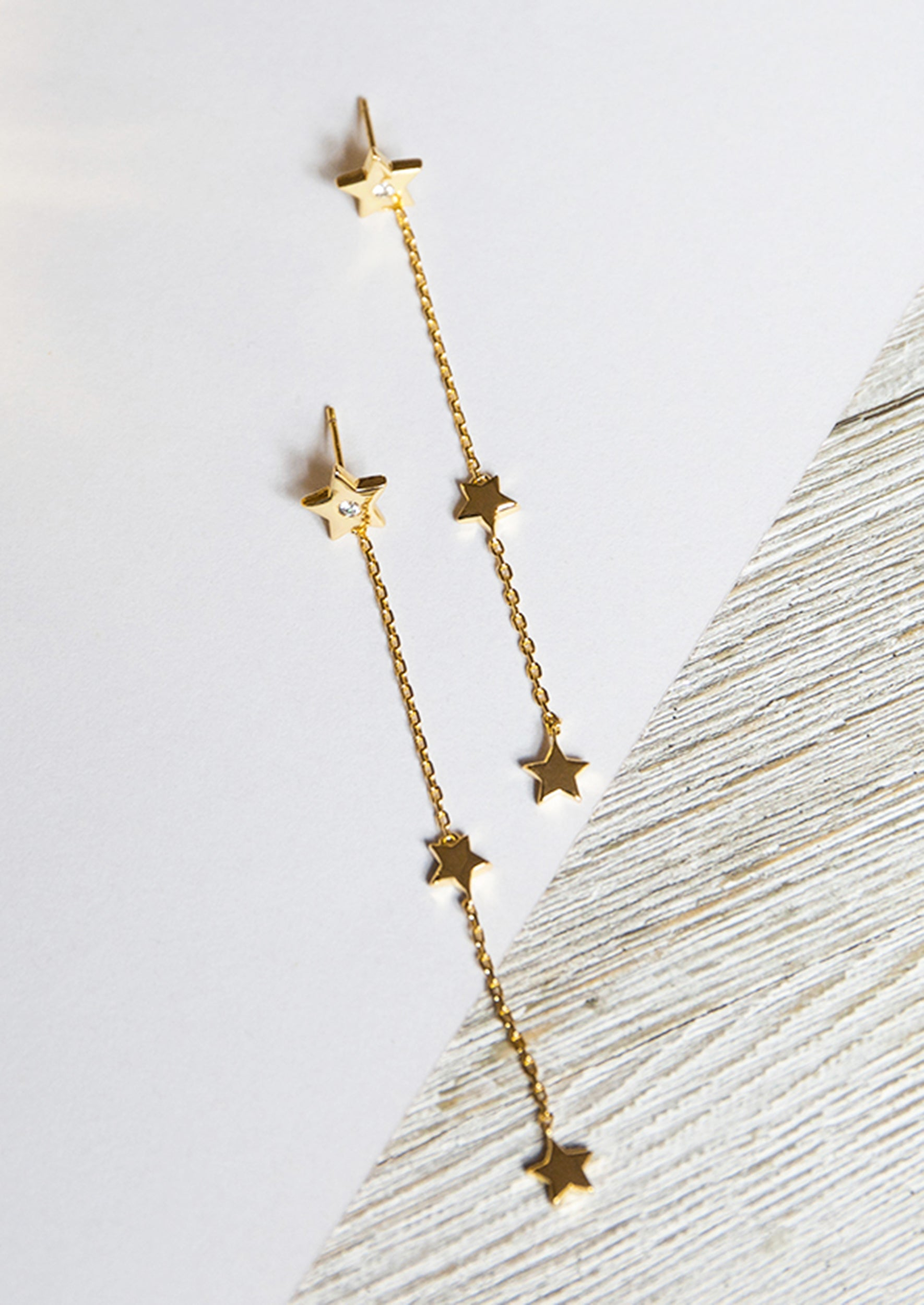 STAR DROP EARRINGS - Jules Smith - 14K Gold Plated - Boho Jewelry