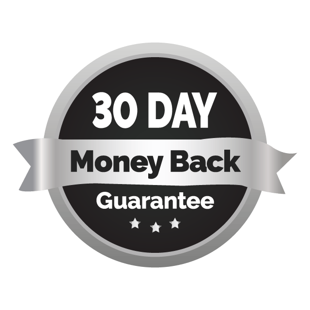 30 Day Money Bback Guarantee