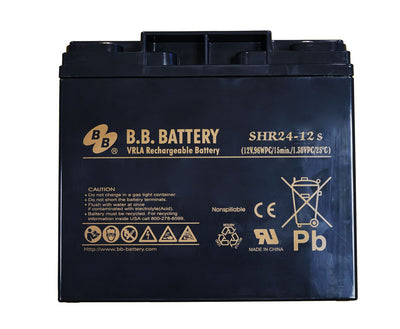 BB battery 12 volt DC HR24ah (Perfect for Portable Power 1700/1700RC/1800RC)