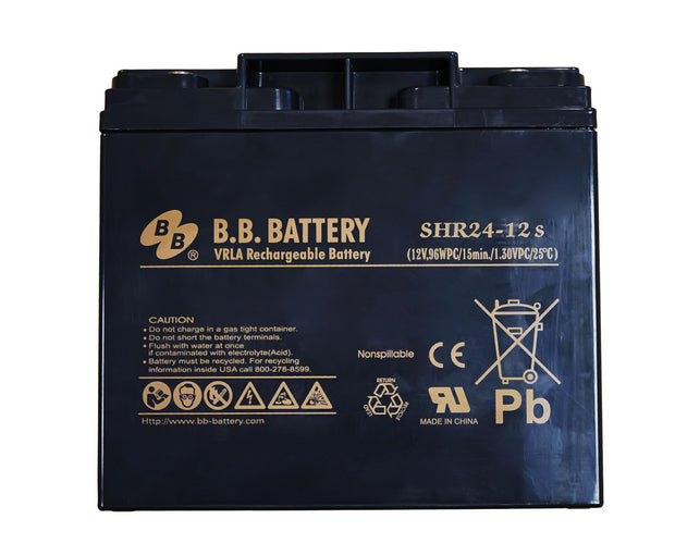 BB battery 12 volt DC SHR24ah (Perfect for Portable Power 1700/1700RC/1800RC)