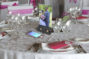 Servacharge portable power bank wedding table centerpiece