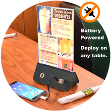 Load image into Gallery viewer, EasyCharge USB Table Charger with Menu Holder
