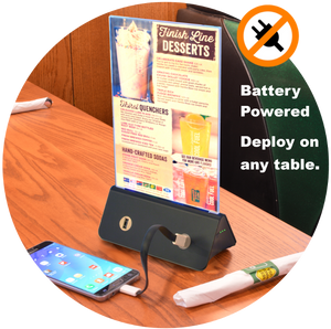 EasyCharge USB Table Charger with Menu Holder