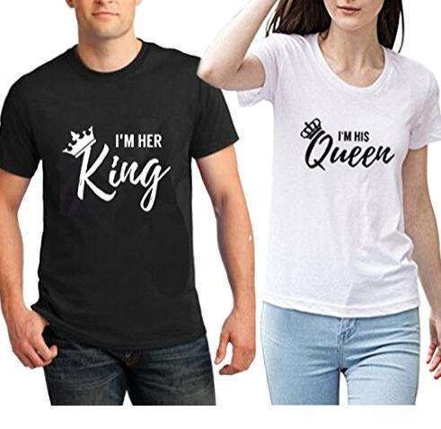 61fb1ddd0 The Matching Couple Shirts I'm Her King & I'm His Queen