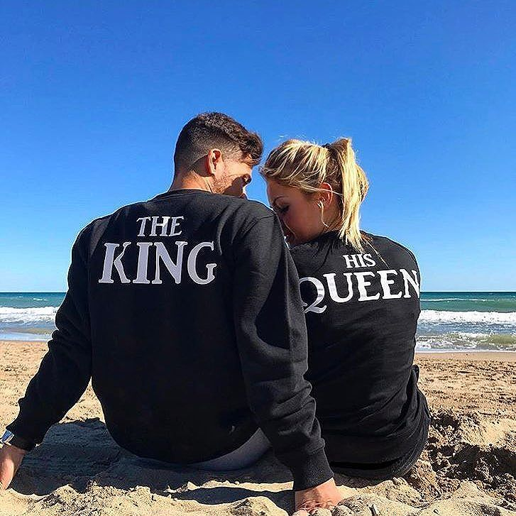 772b54e8b4f The Matching Couple Hoodies The King   His Queen Matching Sweaters