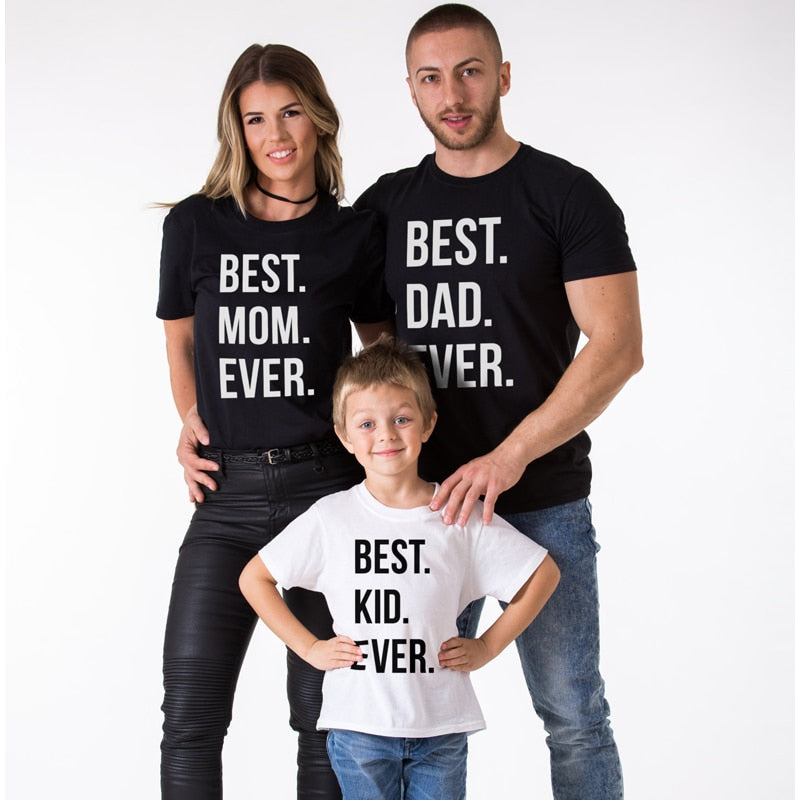 953cc54f1f8 The Matching Couple Best Mom Dad Kid Ever Matching Family Shirts ...