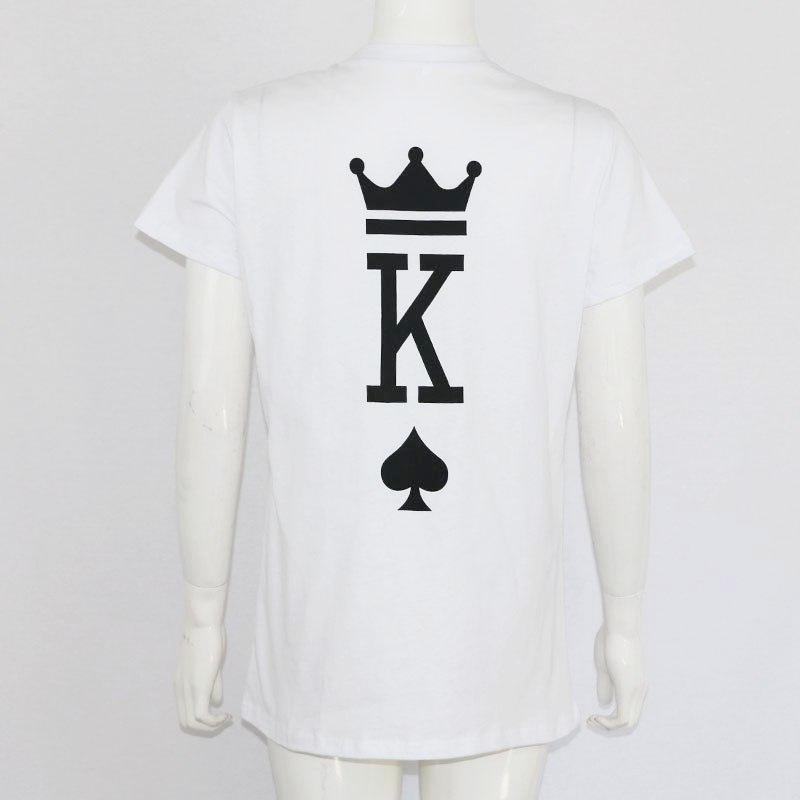 9472b152f3 The Matching Couple Shirts King & Queen Of Hearts Back of Shirt