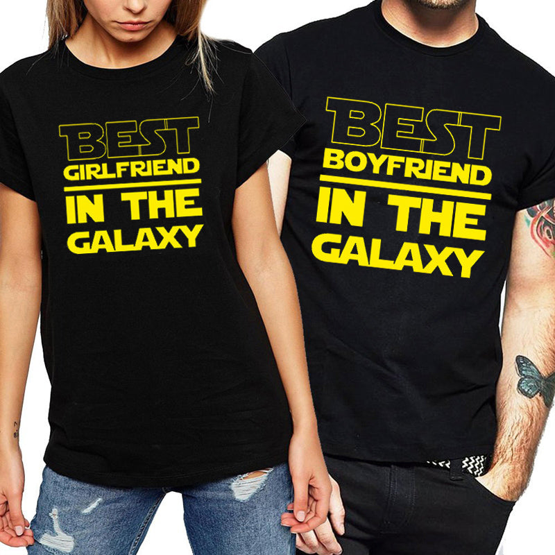 4bb4590760 The Matching Couple Best Boyfriend & Girlfriend In The Galaxy Couple Shirts