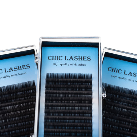 Faux mink eyelash extensions by Chic Lashes - D curl – Chic