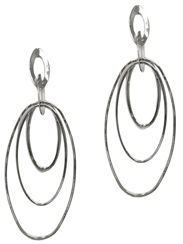 Triple Teardrop Dangle Earring
