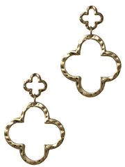 Clover Dangling Charms Earring