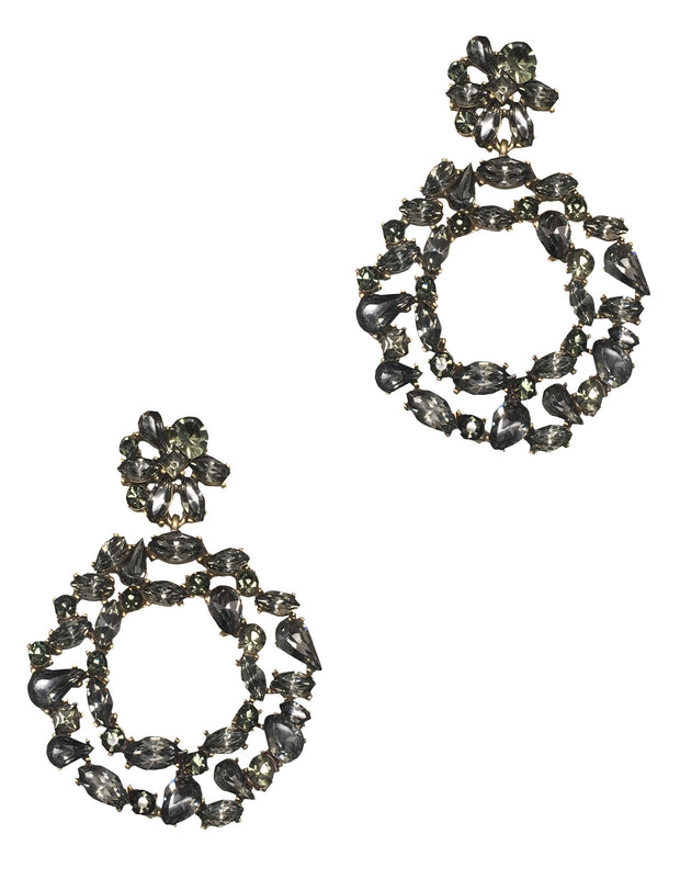 Round Crystal Jeweled Earring