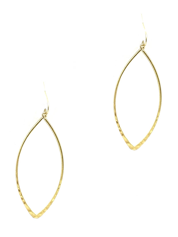 Marquise Fish Hook Earring