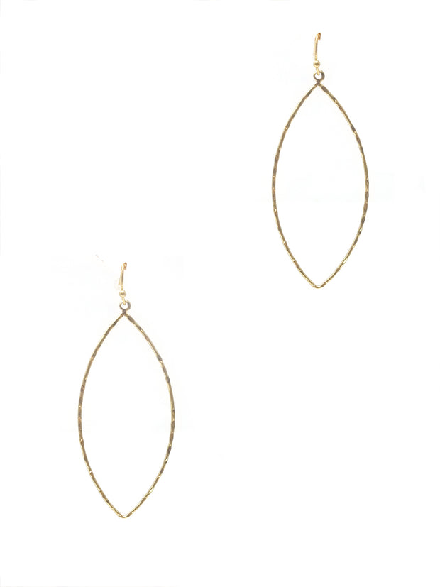 Geometric Fish Hook Earring