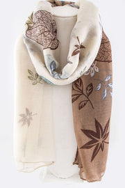 Leaf Mix Print Scarf