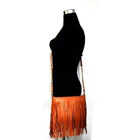 Fringed Cross Body Messenger