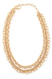 Chunky Gold Layered Chain Linked Necklace