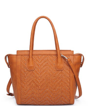 Jagger Woven Vegan Leather Tote