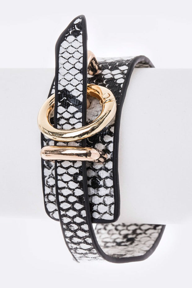 Animal Print Adjustable Cuff Bracelet