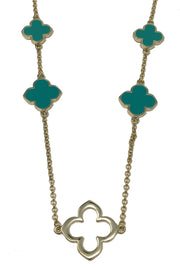 Clover Station Long Necklace