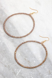 Crystal Wired Circle Drop Earrings