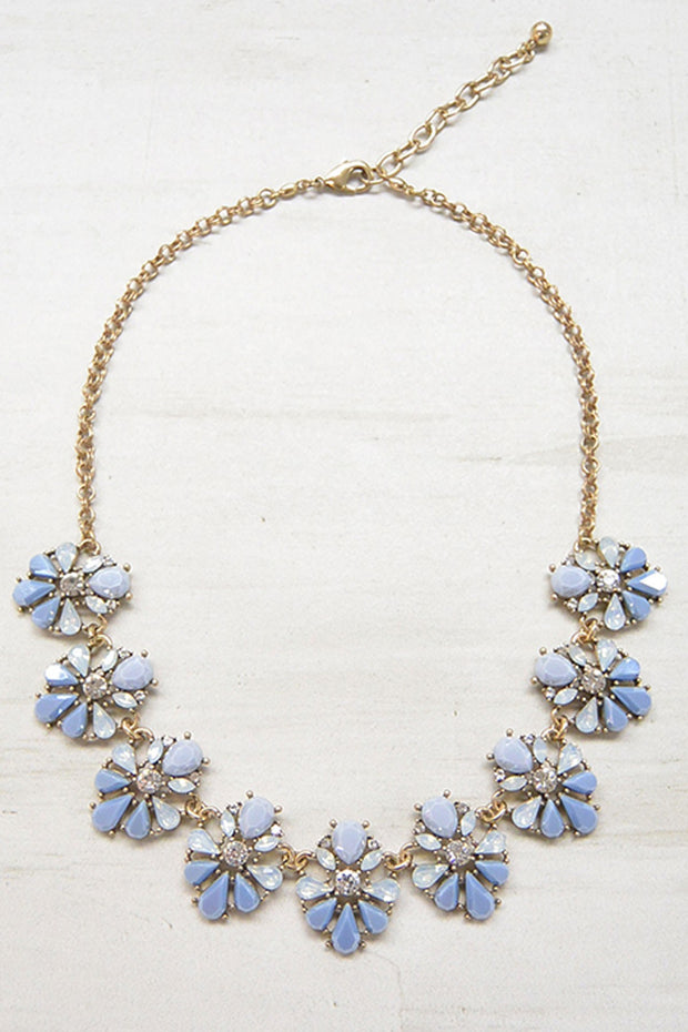 Crystal Burst Teardrop Necklace