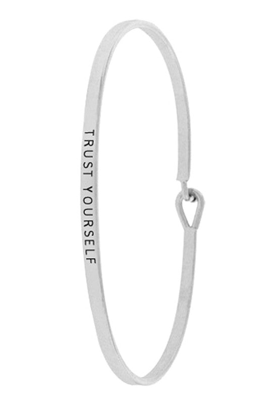 Trust Yourself Bangle Bracelet