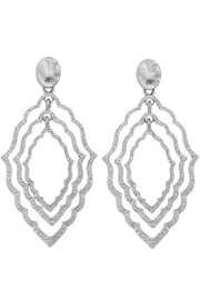 Hammered Metal Moroccan Drop Earring