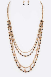 Petite Beads Station Layer Necklace Set