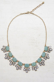 Cluster Jeweled Design Statement Necklace